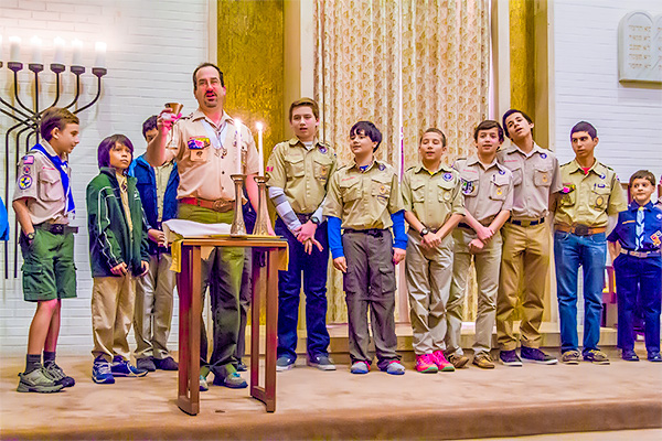 Kiddish at Scout Shabbat