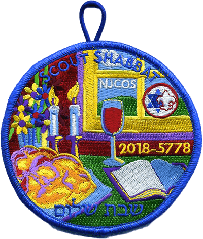 Scout Shabbat patch for 2018