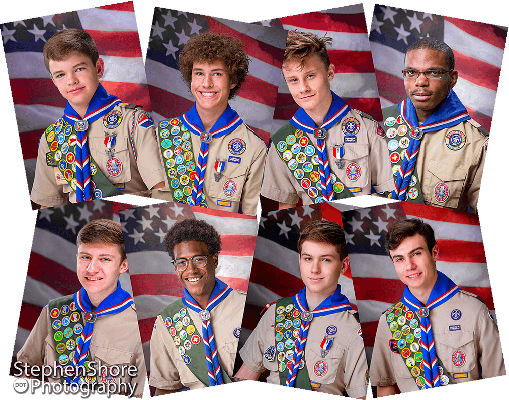 New Eagle Boy Scouts Portraits
