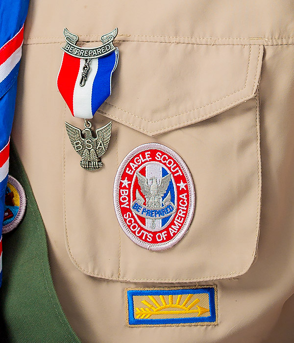 Eagle Patch & Medal Placement