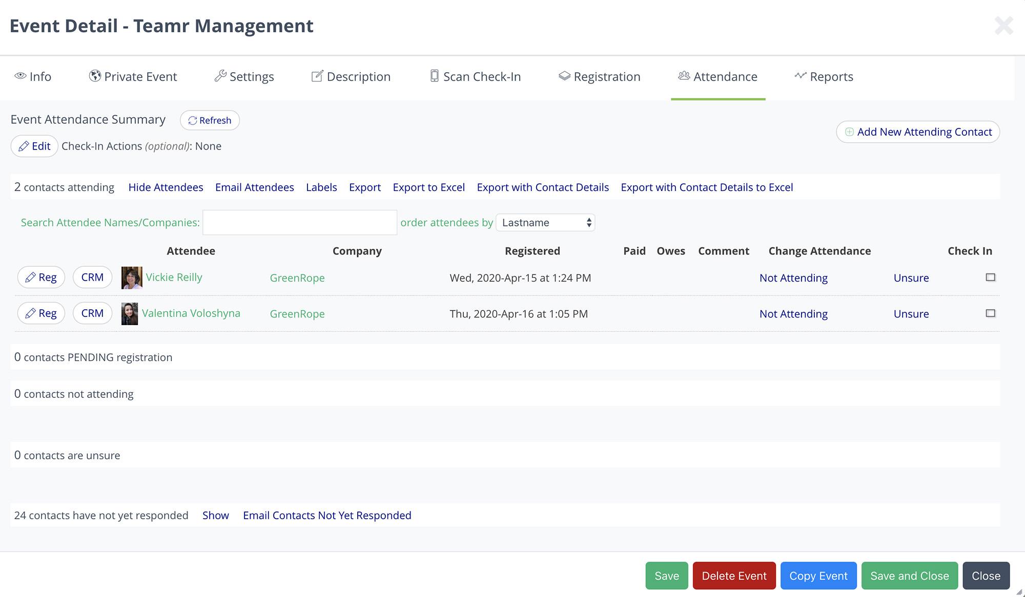 GreenRope's event management software
