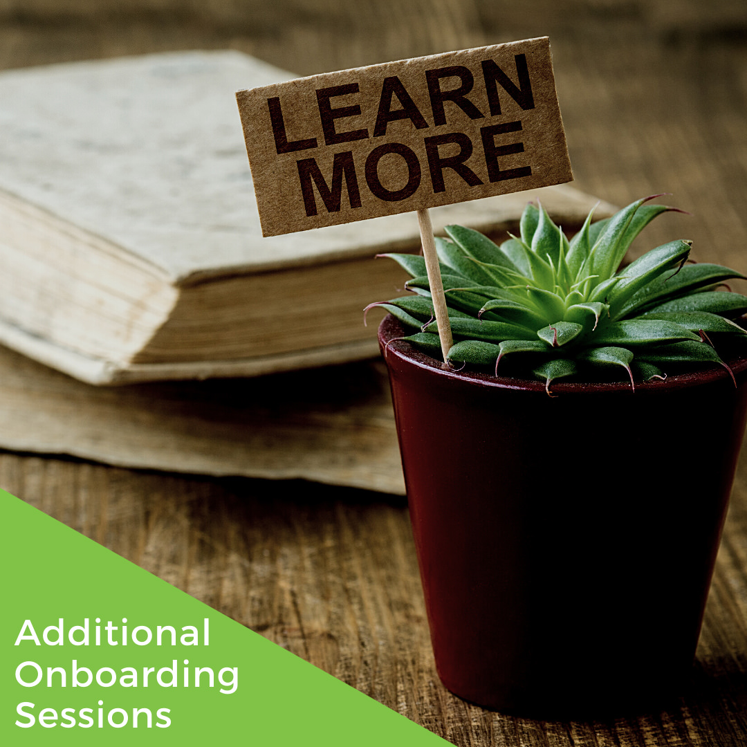 Additional Onboarding Sessions
