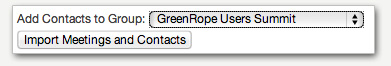 Adding GoToMeeting contacts to GreenRope groups