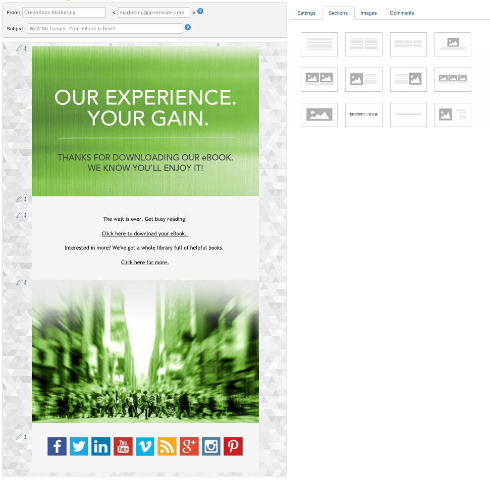 Email template EasyBuiler